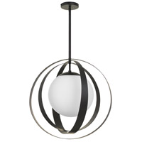 Crystorama 6469-MK Arlo 1 Light 21 inch Matte Black Chandelier Ceiling Light