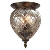 Avery 2 Light 7 inch Antique Brass Flush Mount Ceiling Light in Antique Brass (AB), Cognac (CG)