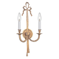 Crystorama Arlington 2 Light Wall Sconce in Olde Brass 658-OB