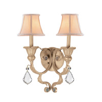 Crystorama Winslow 2 Light Wall Sconce in Champagne, Clear Crystal, Hand Cut 6602-CM-CL-MWP