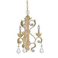 Crystorama Winslow 3 Light Mini Chandelier in Champagne 6603-CM-CL-MWP