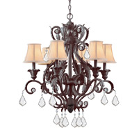 Crystorama Winslow 6 Light Vanity Light in Dark Rust 6606-DR-CL-MWP