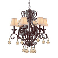 Crystorama Winslow 6 Light Chandelier in Dark Rust 6606-DR-GT-MWP