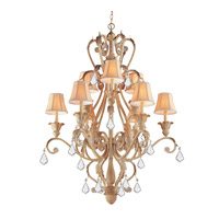 Winslow 12 Light 36 inch Champagne Chandelier Ceiling Light in Clear Crystal (CL), Hand Cut, Champagne (CM)