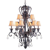 Crystorama Winslow 12 Light Chandelier in Dark Rust 6609-DR-CL-MWP