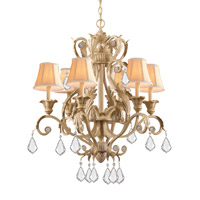 Crystorama Winslow 6 Light Chandelier in Champagne 6616-CM-CL-MWP