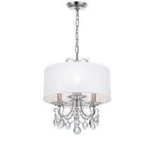Crystorama 6623-CH-CL-S Othello 3 Light 15 inch Polished Chrome Mini Chandelier Ceiling Light in Polished Chrome (CH), Clear Swarovski Strass