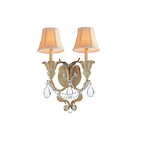 Crystorama Winslow 2 Light Wall Sconce in Champagne with Optical Crystals 6702-CM