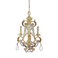 Crystorama Winslow 3 Light Mini Chandelier in Champagne with Optical Crystals 6703-CM