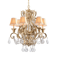 Crystorama Winslow 6 Light Chandelier in Champagne 6706-CM photo thumbnail