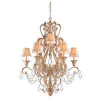 Crystorama 6709-CM Winslow 12 Light 36 inch Champagne Chandelier Ceiling Light in Champagne (CM) photo thumbnail