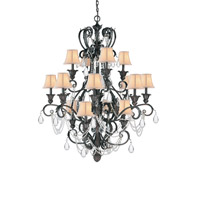 Crystorama Winslow 16 Light Chandelier in Dark Rust 6710-DR photo thumbnail