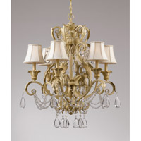Crystorama Winslow 6 Light Chandelier in Champagne with Optical Crystals 6716-CM