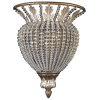 Crystorama Roosevelt 1 Light Wall Sconce in Weathered Patina with Crystal Beads 6721-WP
