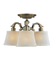 Crystorama Cast 3 Light Semi-Flush Mount in Antique Brass 673-AB