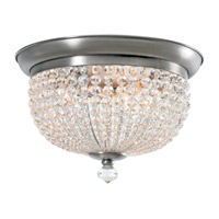 Crystorama Newbury 3 Light Flush Mount in Antique Pewter with Hand Cut Crystals 6743-AP