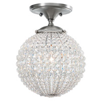Crystorama Newbury 1 Light Semi-Flush Mount in Antique Pewter with Hand Cut Crystals 6750-AP