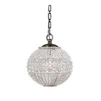 Crystorama Newbury 1 Light Chandelier in Antique Brass with Hand Cut Crystals 6753-AB