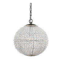 Crystorama Newbury 1 Light Chandelier in Antique Brass with Hand Cut Crystals 6754-AB