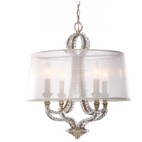 Crystorama Garland 4 Light Mini Chandelier in Distressed Twilight 6764-DT