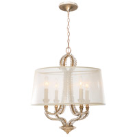 Crystorama 6764-DT Garland 4 Light 16 inch Distressed Twilight Mini Chandelier Ceiling Light alternative photo thumbnail