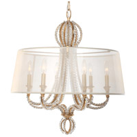 Crystorama Garland 6 Light Chandelier in Distressed Twilight 6767-DT