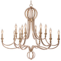 Crystorama 6769-DT Garland 12 Light 30 inch Distressed Twilight Chandelier Ceiling Light