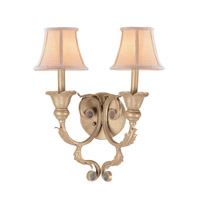 Crystorama Winslow 2 Light Wall Sconce in Champagne 6802-CM photo thumbnail