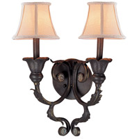 Crystorama Winslow 2 Light Wall Sconce in Dark Rust 6802-DR