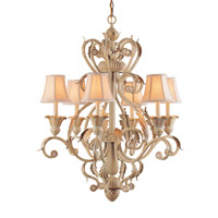 Crystorama Winslow 6 Light Chandelier in Champagne 6806-CM photo thumbnail