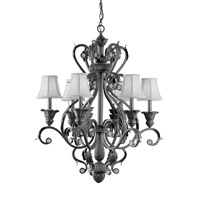 Crystorama Winslow 6 Light Chandelier in Dark Rust 6806-DR