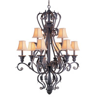 Crystorama Winslow 9 Light Chandelier in Dark Rust 6809-DR