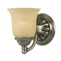 Crystorama Chesapeake 1 Light Bath Light in Antique Brass 681-AB