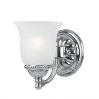 Crystorama Chesapeake 1 Light Wall Sconce in Chrome 681-CH
