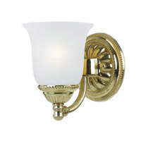 Crystorama Chesapeake 1 Light Bath Light in Polished Brass 681-PB