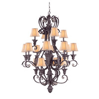 Crystorama Winslow 16 Light Chandelier in Dark Rust 6810-DR photo thumbnail