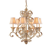 Crystorama Winslow 6 Light Chandelier in Champagne 6816-CM photo thumbnail