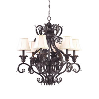 Crystorama Winslow 6 Light Chandelier in Dark Rust 6816-DR