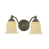 Crystorama Lighting Chesapeake 2 Light Bath Vanity in Antique Brass 682-AB