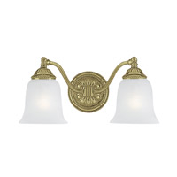Crystorama Chesapeake 2 Light Vanity Light in Polished Brass 682-PB photo thumbnail