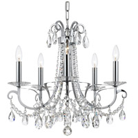 Crystorama 6825-CH-CL-MWP Othello 5 Light 21 inch Polished Chrome Chandelier Ceiling Light in Polished Chrome (CH)