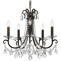 Crystorama 6825-EB-CL-MWP Othello 5 Light 21 inch English Bronze Chandelier Ceiling Light in English Bronze (EB)