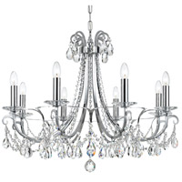 Crystorama 6828-CH-CL-S Othello 8 Light 31 inch Polished Chrome Chandelier Ceiling Light in Polished Chrome (CH), Clear Swarovski Strass