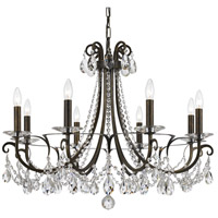 Crystorama 6828-EB-CL-MWP Othello 8 Light 31 inch English Bronze Chandelier Ceiling Light in English Bronze (EB), Clear Hand Cut
