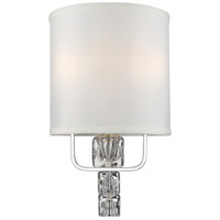 Crystorama 6832-CH Addison 2 Light 9 inch Polished Chrome Wall Sconce Wall Light