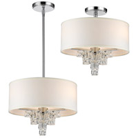 Crystorama 6833-CH Addison 3 Light 16 inch Polished Chrome Mini Chandelier Ceiling Light
