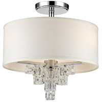 Crystorama 6833-CH_CEILING Addison 3 Light 16 inch Polished Chrome Semi Flush Mount Ceiling Light
