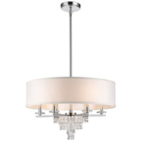 Crystorama 6836-CH Addison 6 Light 25 inch Polished Chrome Chandelier Ceiling Light