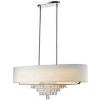 Crystorama 6837-CH Addison 6 Light 42 inch Polished Chrome Chandelier Ceiling Light