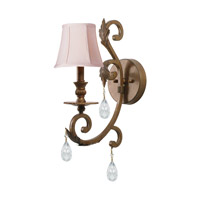 Crystorama Royal 1 Light Wall Sconce in Florentine Bronze with Hand Cut Crystals 6901-FB-CL-MWP
